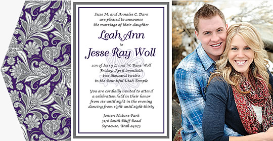 wedding announcement printing tuellers press